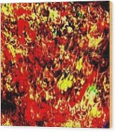 A River Of Fire Wood Print