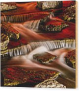 A River Runs Through It Wood Print