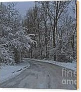 A Road In Winter. Wood Print