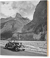 A Roadster In The Rockies Wood Print