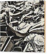 A Roar Of Thunder Wood Print