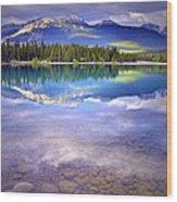 A Rocky Sunset Wood Print