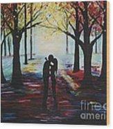A Romantic Kiss Wood Print