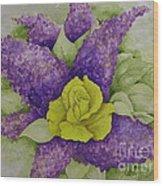 A Rose Among The Lilacs Wood Print