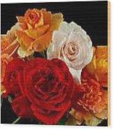 A Rose Bouquet Wood Print