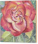 A Rose For Mom Wood Print