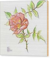 A Rose In Brigadoon Wood Print