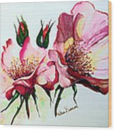 A Rose Is A Rose Wood Print by Karin  Dawn Kelshall- Best
