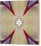 A Rose Thorns And All Mandala Yantra Wood Print