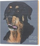 A Rottie Named Thor Wood Print