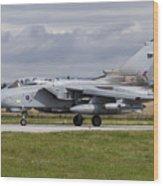 A Royal Air Force Tornado Gr4 Preparing Wood Print