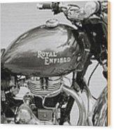 A Royal Enfield Motorbike Wood Print