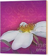A Royal Rose Wood Print