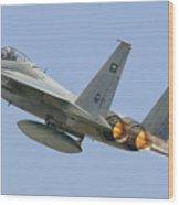 A Royal Saudi Air Force F-15c Wood Print