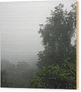 A Rural Pennsylvania Mist Wood Print