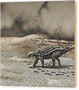 A Saichania Chulsanensis Dinosaur Wood Print