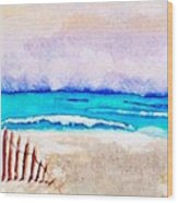 A Sand Filled Beach Wood Print