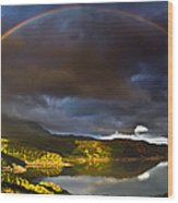 A Scottish Highland Rainbow Kylesku Wood Print by John Farnan