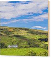 A Scottish Hillside Wood Print