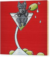 A Scottish Martini Wood Print by Kim Niles