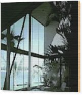 A Screened Patio Wood Print