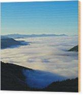 A Sea Of Fog  Wood Print