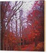 A Season Falls Away Wood Print