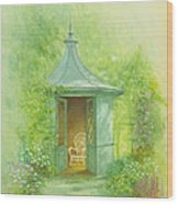 A Seat In The Summerhouse Wood Print