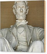 A Seated Abe Lincoln Wood Print
