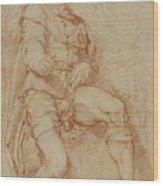 A Seated Man Bernardino Poccetti Barbatelli Wood Print
