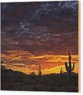 A Sentinel Sunset  Wood Print