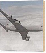 A Sentry Aew1 Of No 8 Squadron Wood Print