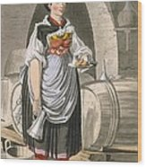A Serving Girl At An Inn Wood Print