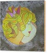 A Shy Lady Wood Print