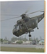 A Sikorsky S-61a4 Helicopter Wood Print