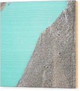 A Silty Glacier-dammed Lake Wood Print