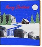 A Simple Christmas Wood Print