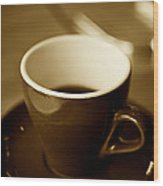 A Simple Cup In Sepia Wood Print