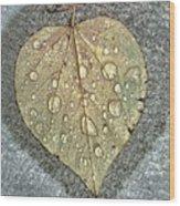 A Simple Leaf Wood Print