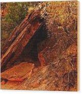 A  Slab Of Rock Wood Print