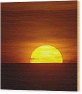 A Slow Sunset Wood Print