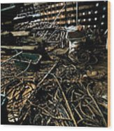 A Snake Pit Of Wires Wood Print