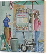 A Snocone For A Child In San Juan Pr Wood Print