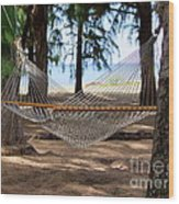 A Snooze By The Ocean Wood Print