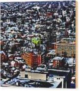 A Snowy City...buffalo Ny 2013 Wood Print