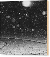 A Snowy Night Wood Print by Hannah Miller