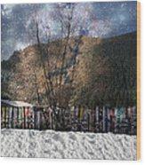 A Snowy Night Wood Print