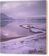 A Snowy Shore Wood Print