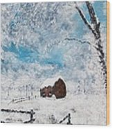A Snowy Winters Day Wood Print