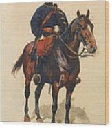 A Soldier Cavalerie Wood Print